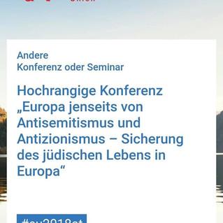 Zur Konferenz in Wien: Antisemitismus und Antizionismus müssen strikt voneinander getrennt werden