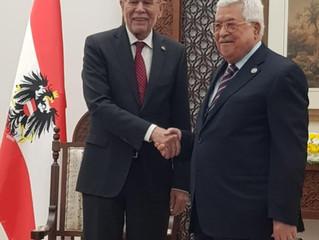 Zusammentreffen der Präsidenten Mahmoud Abbas und Alexander Van der Bellen in Ramallah