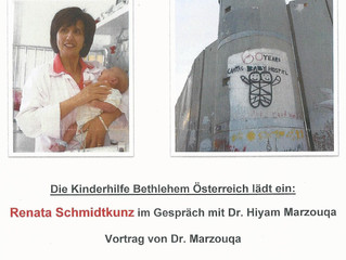 Veranstaltungshinweis: Vortrag von Dr. Hyiam Marzouqa, Chefärztin des Caritas Baby Hospital