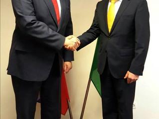 Besuch vom slowenischen Präsidenten a.D., Dr. Türk und vom slowenischen Botschafter, Dr. Rahten