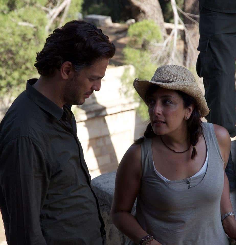 """Najwa Najjar und Khaled Abu Naga beim Dreh von """"Eyes of a Thief"""""""