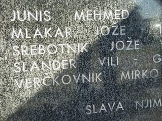 Gedenken an slowenische und palästinensische Partisanen