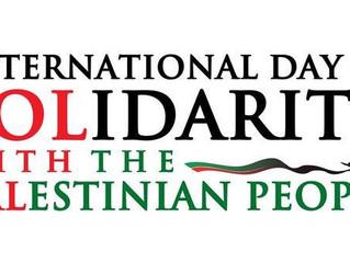 Internationaler Tag der Solidarität mit dem palästinensischen Volk der Vereinten Nationen am 29.11.