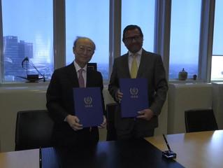 Unterzeichnung des Comprehensive Safeguards Agreement bei der Internationalen Atomenergiebehörde