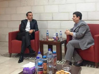 PLO Executive Committee - Mitglied Dr. Hanan Ashrawi empfing den österreichischen Bundeskanzler