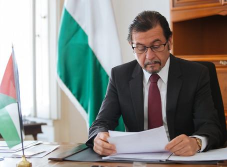 Pressemitteilung von Botschafter Salah Abdel Shafi: US-Deal ist Angriff auf das Völkerrecht