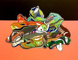 Pile of shoes 95cmx125cm