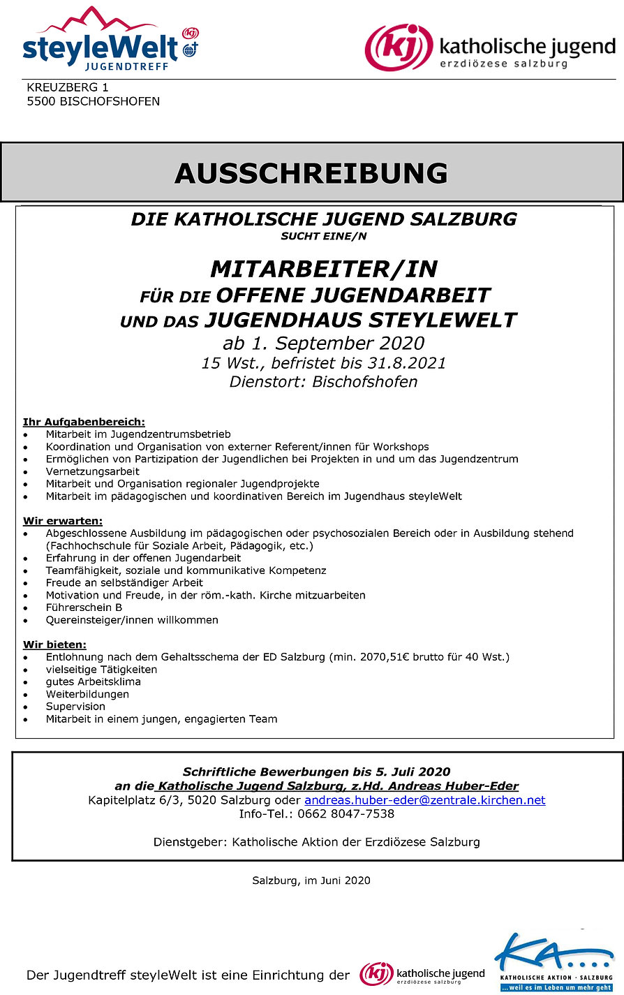 2020-06_Stellenausschreibung_JUZ-steyleW