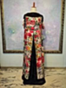 真行寺君枝が手縫いしたヴァレンティノのスカーフを使ったドレス