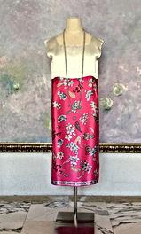 真行寺君枝が縫ったレオナール生地のシルクサテンのワンピース