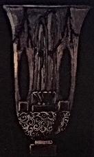 図録『アール・デコ様式のセーブル磁器展』のリュールマンの花瓶「噴水」のデザイン画