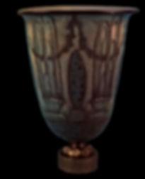 図録『アール・デコ様式のセーブル磁器展』のリュールマンの花瓶「噴水」の写真