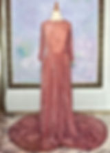 真行寺君枝が縫ったシルクベルベットのロングドレス