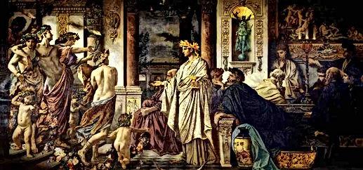 プラトン『饗宴』を描いた絵画
