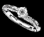 ブリディアロゼ|婚約指輪|ペールチェリー
