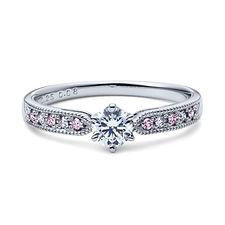 星の砂なでしこ 婚約指輪 アルビレオ