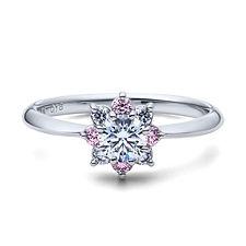 星の砂なでしこ 婚約指輪 フレア