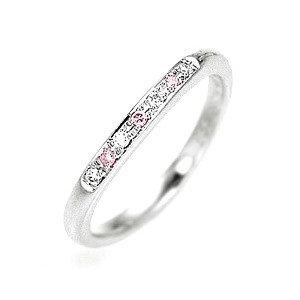 天然ピンクダイヤモンド結婚指輪