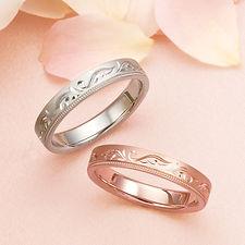 アンジェローザ|結婚指輪|羽