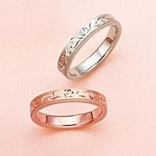 アンジェローザ|結婚指輪|花