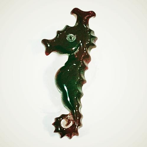 タツノオトシゴ本鼈甲ブローチ