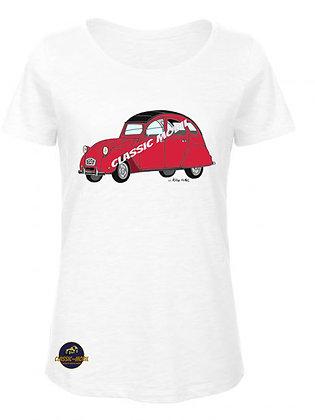 2 CV6 rouge / BIO T-Shirt Femme