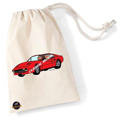 Ferrari 308 / Sac pochon coton bio