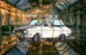 Renault 12 Le Mia couleurs_tableau hall