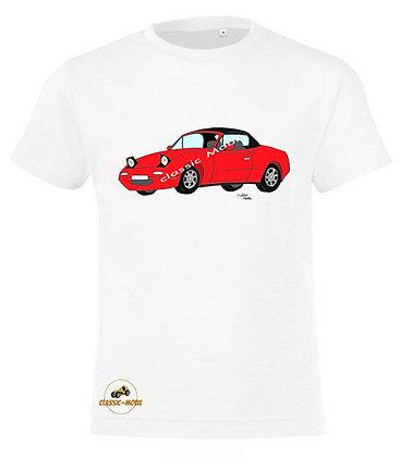 Mazda MX5 NA rouge / Tee-shirt coton Garçon