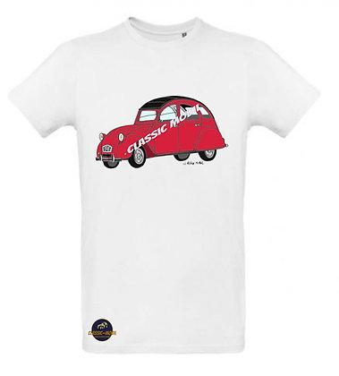 2 CV6 rouge / Tee shirt Homme coton BIO