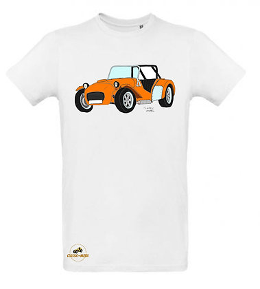 Caterham orange / Tee shirt Homme coton BIO