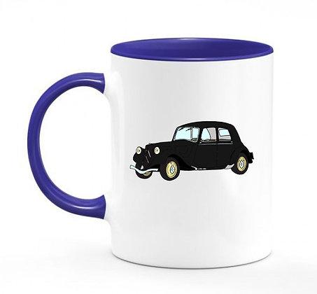 Citroen Traction / mug bicolore bleu marine