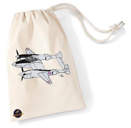 Lockheed P-38 Lightning / Sac pochon coton bio