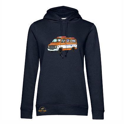 Dodge ambulance Cannonball Run / Femme Sweat-shirt coton bio