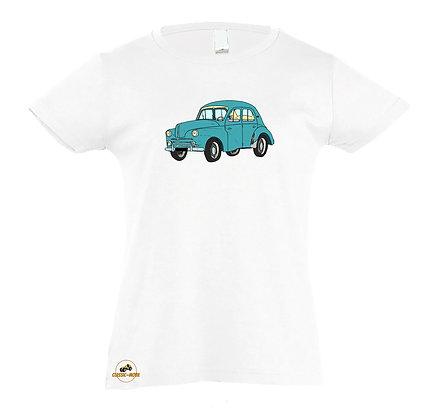 Renault 4 CV verte / Tee-shirt coton Fille