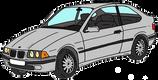 BMW série 3 compact grise