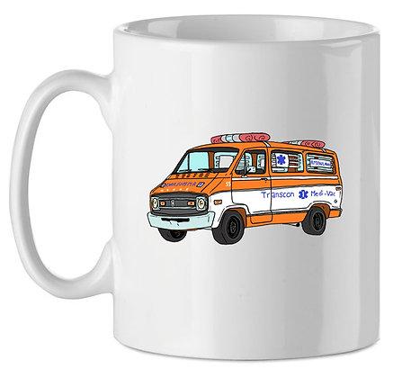 Dodge ambulance Cannonball Run / mug