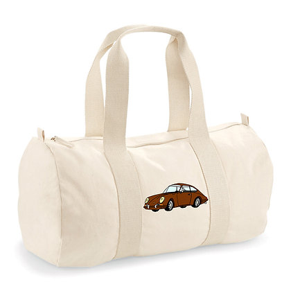 Porsche 911 marron / sac polochon