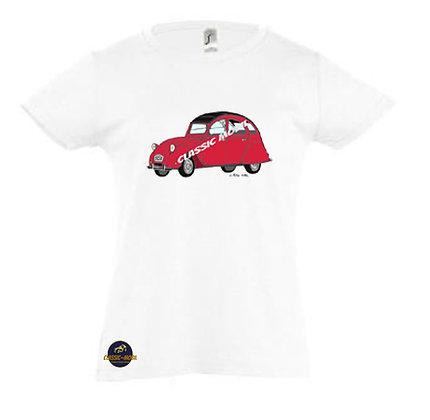 2 CV6 rouge / Tee-shirt Fille