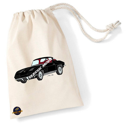 Corvette Sting Ray Split window / Sac pochon coton bio