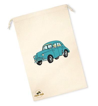 Renault 4 CV / Sac pochon coton bio