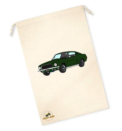 Ford Mustang Bullitt / Sac pochon coton bio