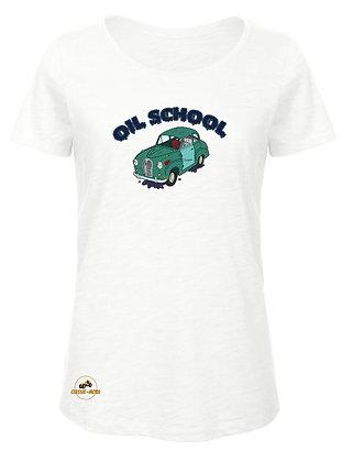 Austin A35 - Oil School / T-Shirt Femme coton BIO