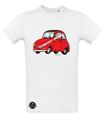 Fiat 500 Classic / Tee shirt Homme coton BIO