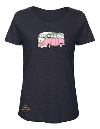 Volkswagen Combi Split rose / T-Shirt Femme coton BIO