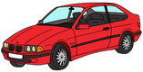 BMW série 3 compact rouge