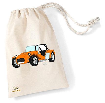 Caterham orange / Sac pochon coton bio