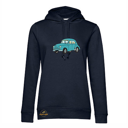 Renault 4 CV verte / Femme Sweat-shirt coton bio