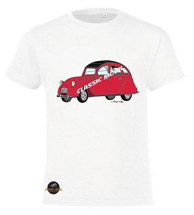 2 CV6 rouge  / Tee-shirt coton Garçon