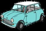 Austin MINI Cooper MK1 bleue